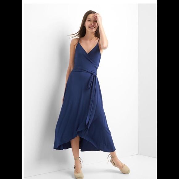 "64555162033 "" Host Pick "" 💙 GAP Cami Wrap Dress !"